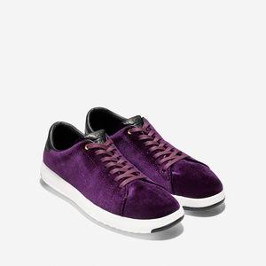 NWT Cole Haan GrandPrø Tennis Velvet Sneaker W7.5B